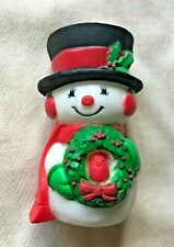 Vintage Hallmark Christmas Snowman Figure