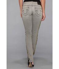 True Religion Jude Sand Skinny Drifter Women's Printed Denim Jeans 32, New $228