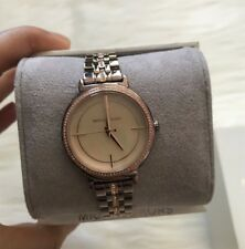 Brand New Michael Kors Cinthia Sable IP and Rose Gold Women's Watch MK3737