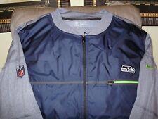 NFL Seattle Seahawks Nike Shield Blue Gray Full Zip Golf Hybrid Jacket Men s  LGE cddfe06a2