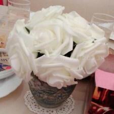 10pcs Lote rosa flores cabeza fiesta boda ramo decoración decoración bricolaje
