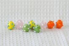 Lampwork Glass Beads (new) (8) EASTER EGGS  #32