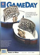 Chicago Bears San Francisco 49ers 1/8/89 NFC Championship Game Program w/ Notes