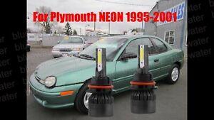 LED For Plymouth NEON 1995-2001 Headlight Kit 9007 HB5 White Bulbs Hi-Low Beam