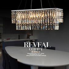 Fashion simple restaurant continental Iron rectangular K9 crystal chandelier