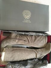 Vince Camuto Boots Suede Grey 5 5.5
