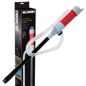 Ideaworks Liquid Transfer Siphon Pump Battery Powered Gas Oil Water Aquarium