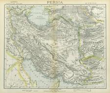 PERSIA IRAN. Ottoman Iraq. Caspian Sea. Afghanistan. LETTS 1883 old map