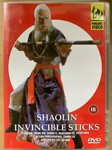 Shaolin Invincible Sticks DVD 1978 Old School Kung Fu Martial Arts Film Movie