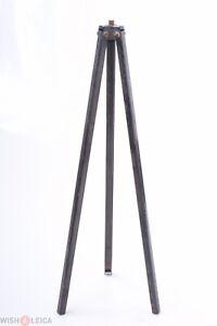 ✅ UNBRANDED METAL TRIPOD 3 SECTION FOLDING VINTAGE 1950S AGFA, ZEISS, ICA, KODAK