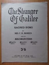 The Stranger Of Galilee Sacred Song by Mrs. C.H. Morris  Vintage music sheets