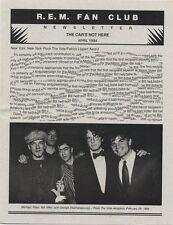 R.E.M. Fanclub Newsletter April 1994