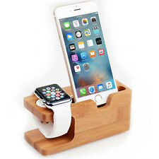 2in1 Desktop Stand Holder Charger Cord Docking Station For Apple Watch iPhone UK