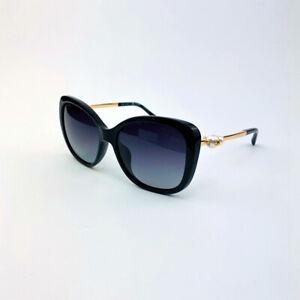 New CHANEL 5339-H c.501/S8 Women's Gold Black Pearl Butterfly Eyewear Sunglasses