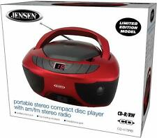 New Jensen Portable Cd Player Stereo Boombox Am/Fm Radio Aux Headphone Jack Acdc