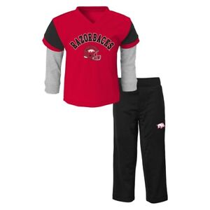 Arkansas Razorbacks NCAA Red Long Sleeve T-Shirt & Pants Set Boys (4-7)