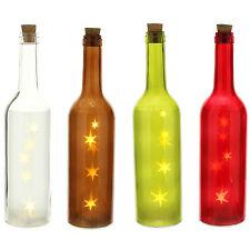 30cm noël étoiles couleur intérieur led bouteille lumière allumé décoration de table