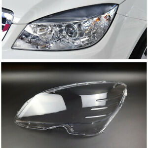 1PC Left Side Headlight Lens Cover For Mercedes-Benz C-Class W204 2008-2010