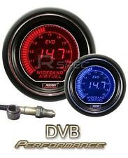 Prosport 52mm EVO Car Wideband Air Fuel Ratio AFR LCD Digital Display Red Blue