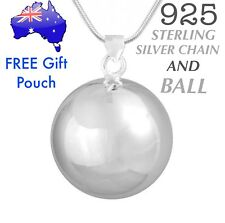 925 Sterling Silver Angel Caller Harmony Chime Ball Pendant Necklace Pregnancy