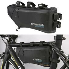 ROSWHEEL Bicycle MTB Waterproof  Frame Triangle Front  Bag 4L Large Capacity
