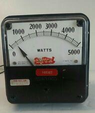 Vintage Weston Model 925 1000 5000 Watts Meter Metal Case Substation Panel