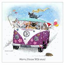 5 Devon Rex Christmas Cards designed by Suzanne LeGood for Devon Rex Owners Club