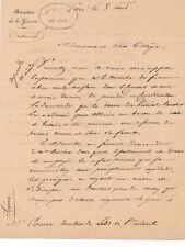Jean Paul Adam Schramm général Empire lettre autographe signée demande tabac