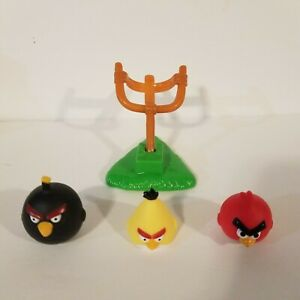 Angry Birds Knock On Wood Game Replacement Parts Pieces 3 Birds And 1 Launcher