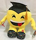 BLACK HAT Graduation Emoji Pillow 13.5'' INCHES with SOUND  Light Up