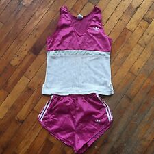 Vintage 1970s/80s Adidas Track Running Shorts & Tank Set, Prefontaine, Small