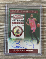 2019-20 Panini Contenders Veteran Ticket Dwyane Wade On Card Auto Miami Heat