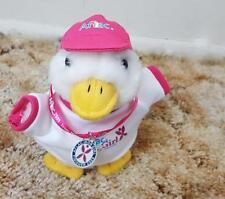 2009 AFLAC Plush Iron Girl Talking Duck Pink Swimming Biking Running Medal