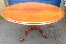 ~Oval Antique Victorian Mahogany Tilt Top Loo or Breakfast Dining Table~    278