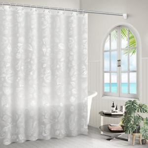 Waterproof Shower Curtain Set with Hooks Bathroom Curtains Mildew Proof Decor