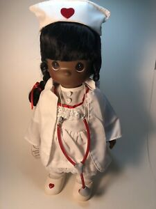 Vintage Precious Moments Doll Collection Loving Touch Nurse African American New