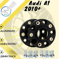 BLACK Audi A1 2010 Onwards 5x100 20mm Hubcentric Wheel Spacers 1 pair