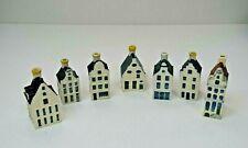 Blue Delft's KLM by BOLS miniature houses x 7 - 19, 30 ,34, 39, 72, 77 & 91