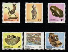 Zimbabwe 1988 Sc 560 - 565 Complete Set - MNH - National Gallery of Atrs