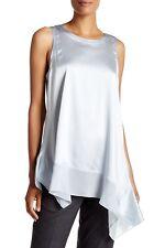 Eileen Fisher Geyser Round Neck Sleeveless Silk Blend Tunic Size X-Small