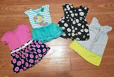 4 Baby Girl Dresses Size 24 Months: Disney Tinkerbell, Chevron, Flowers +