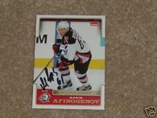 Maxim Afinogenov Autographed 2006-2007 Fleer Card*