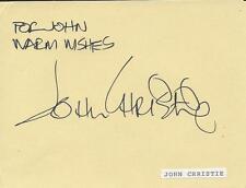 John Christie Signed Vintage Album Page