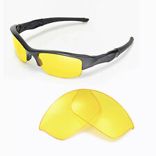 New Walleva Yellow Replacement Lenses For Oakley Flak Jacket Sunglasses