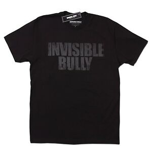 INVISIBLE BULLY LOGO PAINTED LETTERS MEN'S T-SHIRT ASSORTED COLORS NEW YORK BRNX