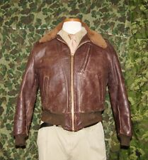 Men  VintageTANK Horse Hide 3 Pocket tanker Fleece lined Jacket size 38 Restored