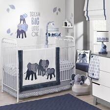 Lambs & Ivy 4 Piece Baby Nursery Crib Bedding Set Indigo with Bumper NEW 2017
