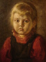 """perfect 24x36 oil painting handpainted on canvas """"a little girl""""@NO9708"""