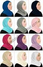 Lot of 12 Kids Girls Hijab  Muslim School Islamic Scarf Arab Headwear for kids