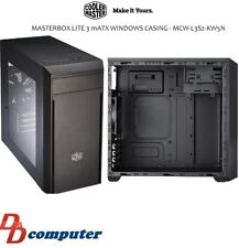 Cooler Master MasterBox Lite 3 Windowed Mid Tower Case Black (NO PSU)